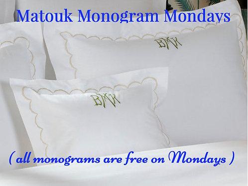 Matouk Monogram Linens