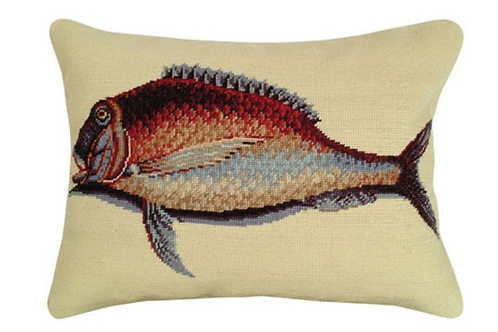 Mutton Fish Needle point Pillow