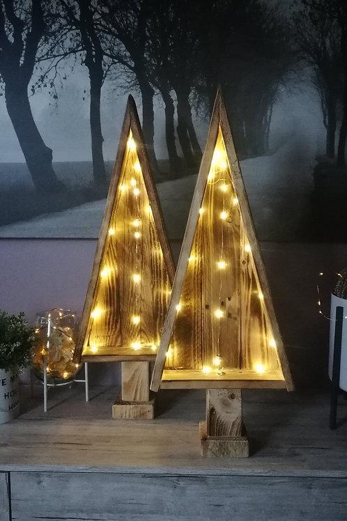 LED Holz Tanne Weihnachtsbaum Dekor Lampe 70 cm