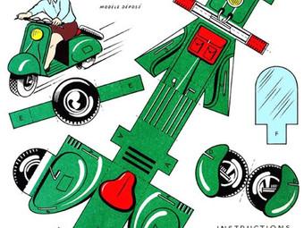 PAPERMAU: vintage paper Vespa toys.