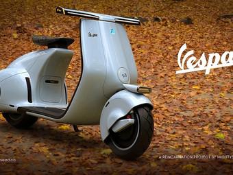 """Un'elettrizzante """"Vespa 98"""" by Mightyseed Designs"""