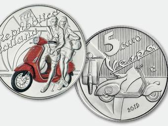 5 Euro d'argento per i 70 anni della Vespa