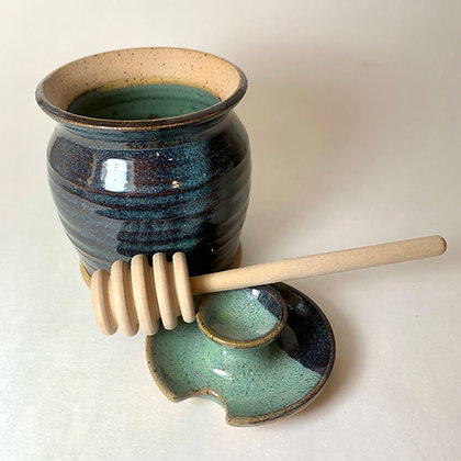 honey pot, sugar bowl