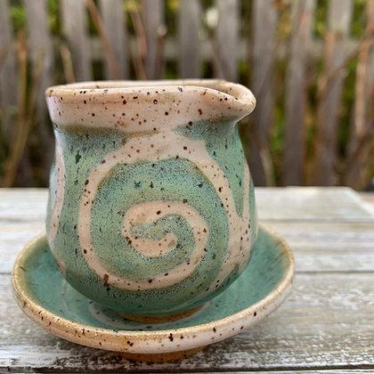 ceramic pitcher, mini pitcher, syrup pitcher