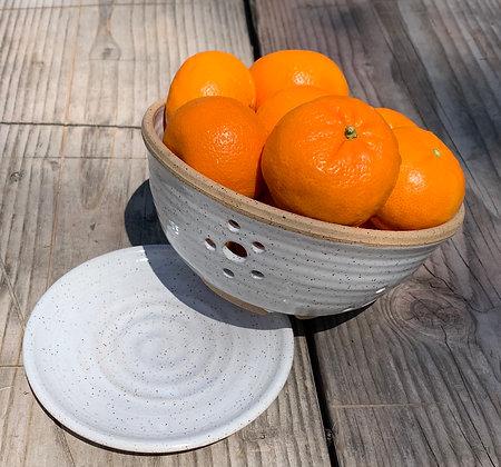 Ceramic Berry Bowl, Ceramic Colander, Farmhouse Bowl, Fruit Bowl