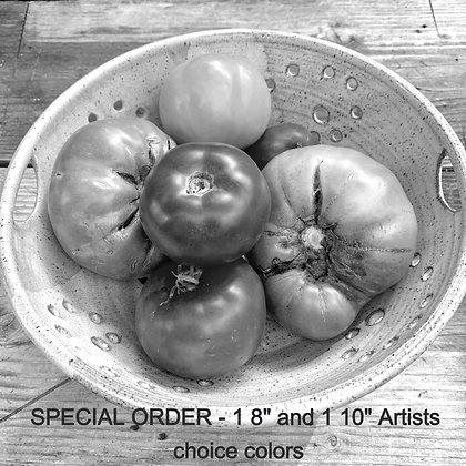 RESERVED  for IVAN - CUSTOM Ceramic Berry Bowl Set