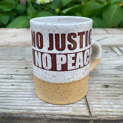 No Justice No Peace Handmade Artisan Mug