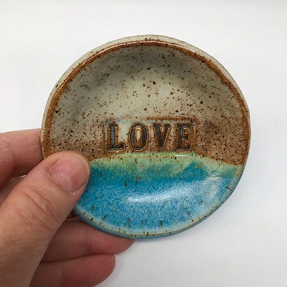 Ceramic ring dish with Mom or Love