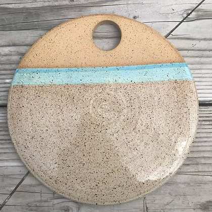 Ceramic Cheese Stone Serving Plate