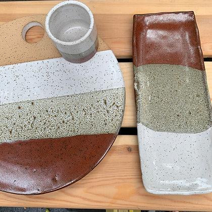 Ceramic Cheese Stone Set