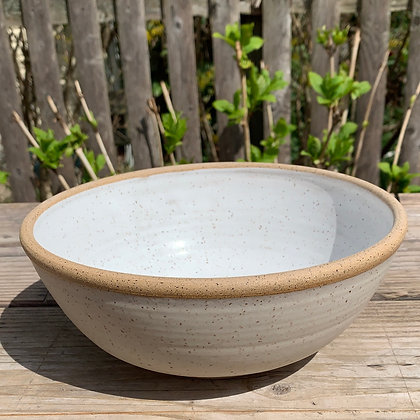 ceramic bowl, farmhouse bowl, fruit bowl, white bowl , salad bowl
