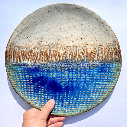 Large Platter - Blue Ceramic Plate