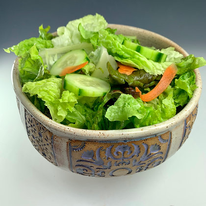 ceramic bowl, ceramic salad, fruit bowl, handmade