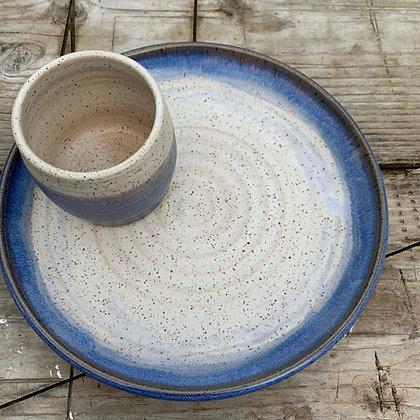 appetizer plate set, ceramic plate, hostess set
