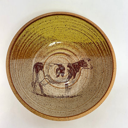 cow plate dairy plate