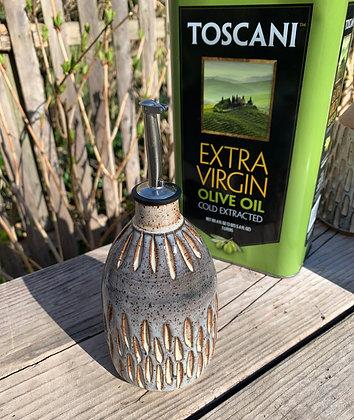 Oil Bottle, EVVO, Ceramic Bottle, Oil Cruet, Kitchen Helper, handmade bottle