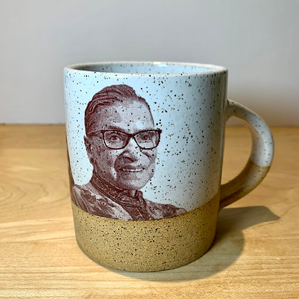 Ruth Bader Ginsberg, RBG, Political Pottery, Pandemic Pottery