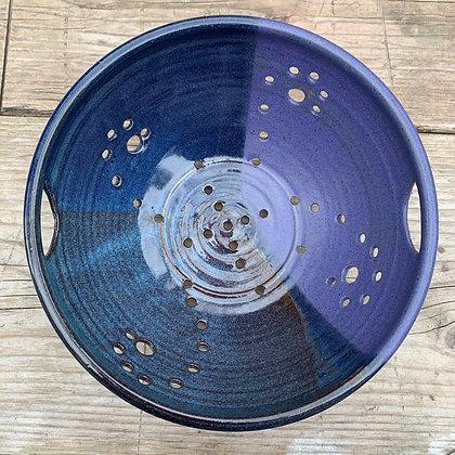Ceramic Berry Bowl, Ceramic Colander- Deep Lavender