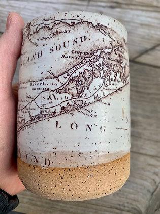 Fantastic Long Island - Vintage Map - Handmade Artisan Mug