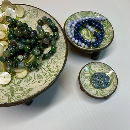jewelry bowl, trinket dish, bedroom accessories