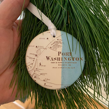 Port Washington NY, Tree ornament, Medallion Port Washington