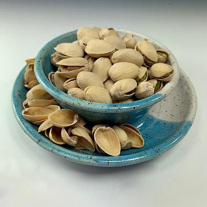 pistachio bowl, olive bowl