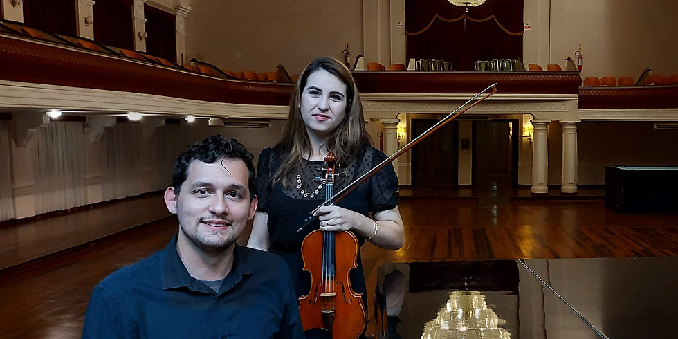 """""""Os Românticos Brahms e Dvorak"""" Duo Rebeca Vieira ao violino & Matheus Alborghetti ao piano"""
