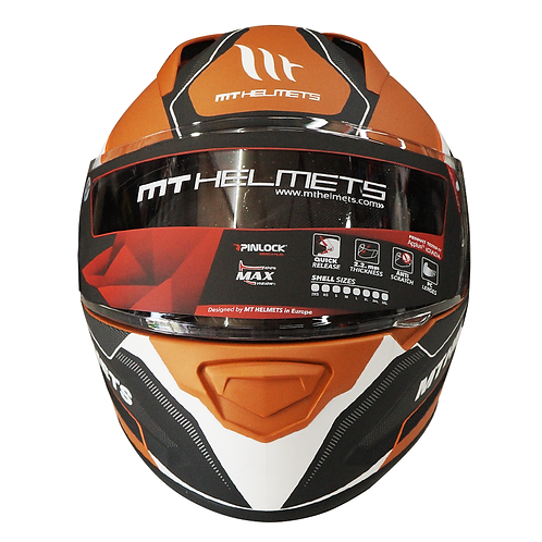 Casco MT - Stinger Shell - Fast Bend (Naranja)