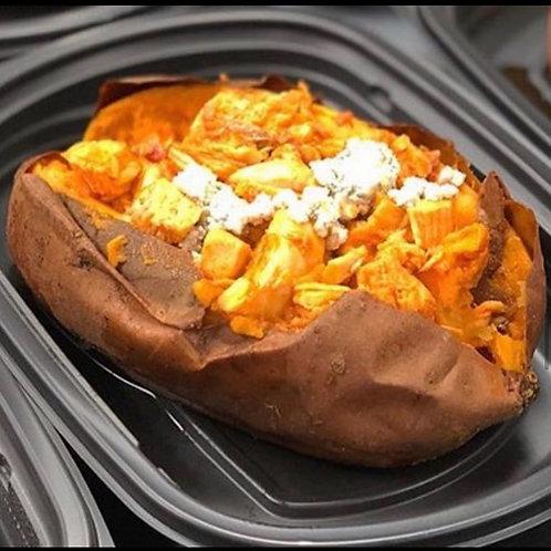 Buffalo Chicken Stuffed Sweet Potato
