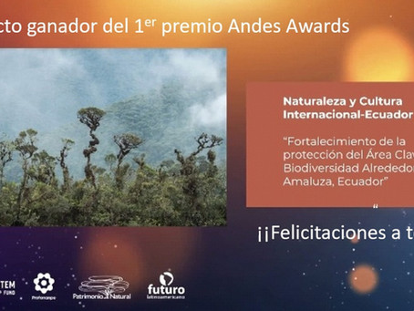 Proyecto gana el primer lugar en los Andes Awards