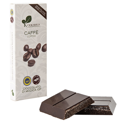Cioccolato Extra Fondente di Modica I.G.P. al caffè