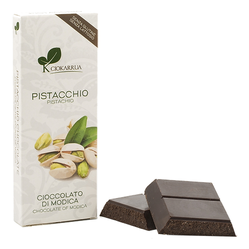 Cioccolato Extra Fondente di Modica I.G.P. al Pistacchio