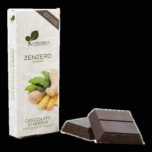 Cioccolato Extra Fondente di Modica I.G.P. allo Zenzero