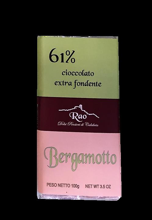 Cioccolato Extra Fondente al Bergamotto