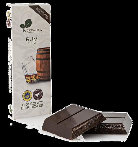 Cioccolato Extra Fondente di Modica I.G.P. al rum