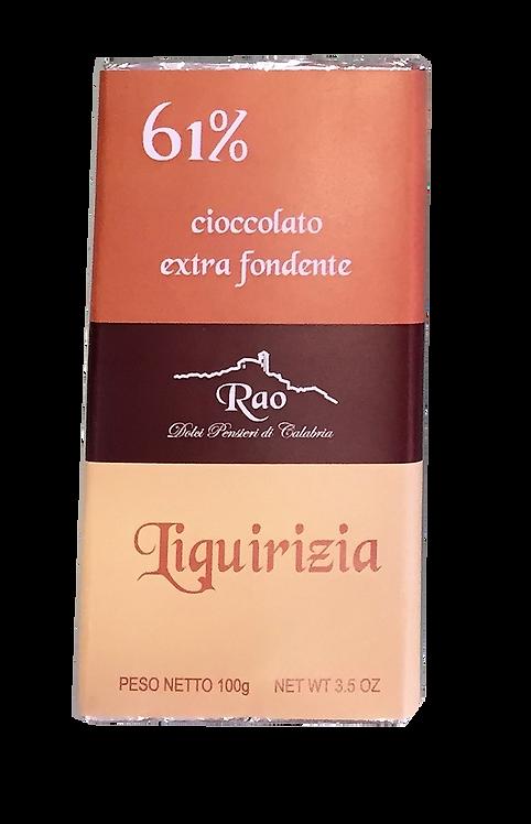 Cioccolato Extra Fondente alla Liquirizia