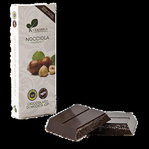Cioccolato Extra Fondente di Modica I.G.P. alla nocciola