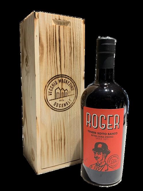 Amaro Roger in cassetta di legno