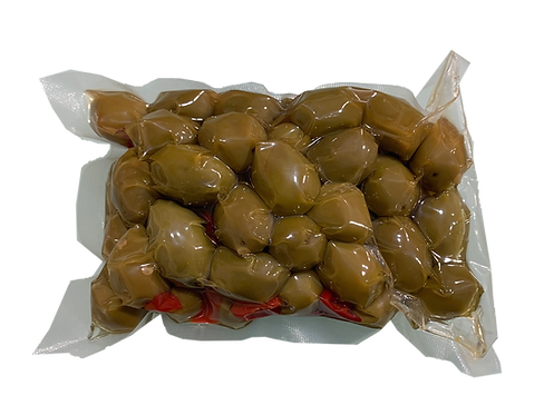 Olive intere con peperoncino a rondelle - 500 gr.