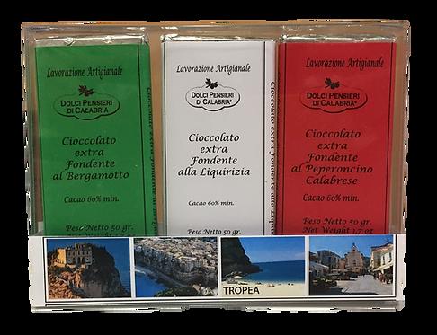 Tris di Cioccolato Extra Fondente Italia