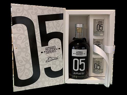 Confezione Amaro 05 con bicchieri