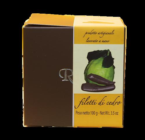 Filetti di Cedro candito ricoperti di cioccolato