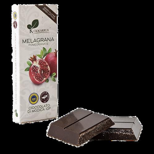 Cioccolato Extra Fondente di Modica I.G.P. alla melagrana