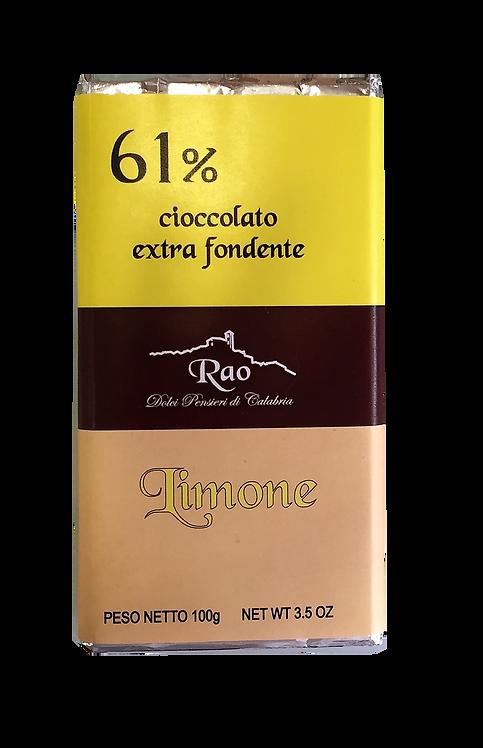 Cioccolato Extra Fondente al Limone
