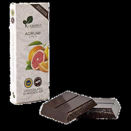 Cioccolato Extra Fondente di Modica I.G.P. agli agrumi