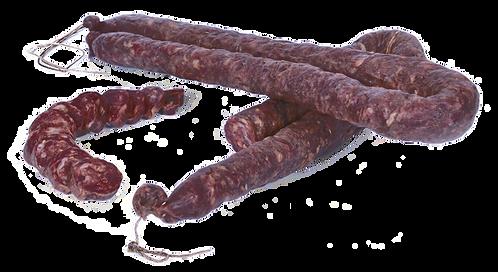 Salsiccia dolce di suino nero da 430 a 450 gr. circa