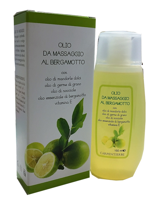 Olio da massaggio al Bergamotto 150 ml.