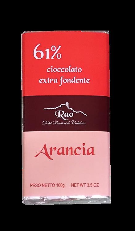Cioccolato Extra Fondente all'Arancia