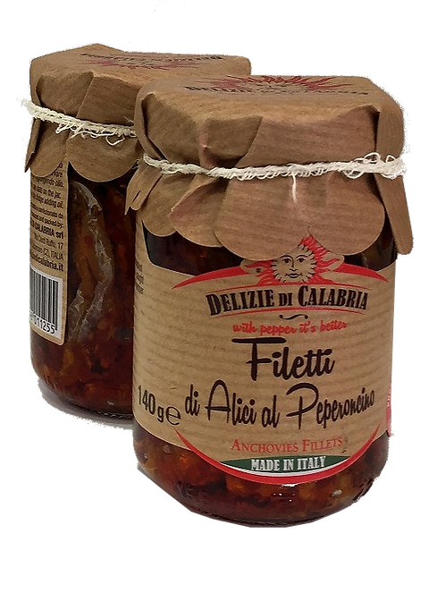 Filetti di alici al peperoncino