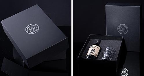 Amaro Jefferson in confezione regalo con bicchieri